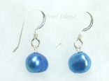 Royal Blue Baroque Pearl Earrings