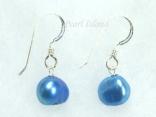 Royal Blue Baroque Pearl Earrings