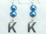 Personalised Royal Blue Baroque Pearl Earrings