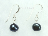Black Baroque Pearl Earrings