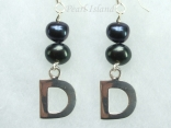 Personalised Black Baroque Pearl Earrings