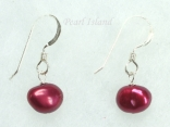 Red Baroque Pearl Earrings