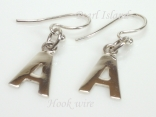 Sterling Silver Initial A Earrings