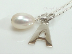 Sterling Silver Initial A Pendant Necklace