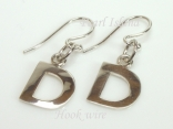 Sterling Silver Initial D Earrings