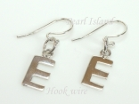 Sterling Silver Initial E Earrings