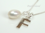 Sterling Silver Initial F Pendant Necklace