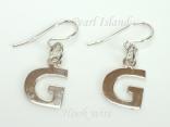 Sterling Silver Initial G Earrings