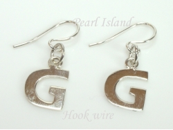 Sterling Silver Initial G Earrings