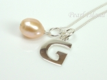 Sterling Silver Initial G Pendant Necklace