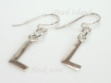 Sterling Silver Initial L Earrings
