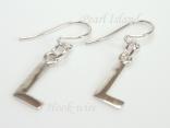 Sterling Silver Initial L Earrings
