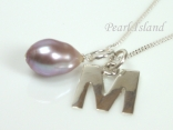 Sterling Silver Initial M Pendant Necklace