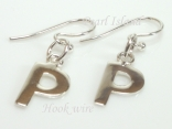Sterling Silver Initial P Earrings
