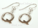 Sterling Silver Initial Q Earrings
