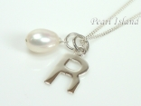 Sterling Silver Initial R Pendant Necklace
