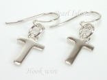 Sterling Silver Initial T Earrings
