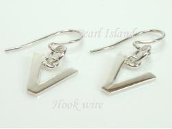 Sterling Silver Initial V Earrings