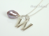 Sterling Silver Initial W Pendant Necklace