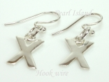 Sterling Silver Initial X Earrings