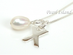 Sterling Silver Initial X Pendant Necklace