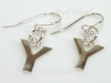Sterling Silver Initial Y Earrings