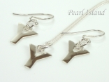 Sterling Silver Initial Y Earring and Pendant Set
