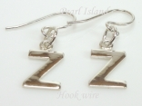 Sterling Silver Initial Z Earrings