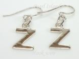 Sterling Silver Initial Z Earrings