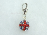 GB Union Jack Flag Crystal Clay Disco Ball Clip on Charm