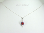 GB Union Jack Flag Crystal Clay Ball Pendant