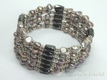 Silver Grey Pearls & Magnet Necklace/Bracelet