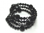 Black Faceted Chinese Crystal Bracelet