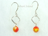 Swarovski Crystal Fireopal Earrings 6mm