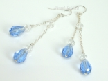 Something Blue Crystal Dangling Earrings