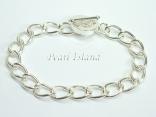 Silver Toggle Charm Bracelet