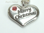 Clip on Charms - Merry Christmas Heart Charm