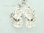 Clip on Charms - Silver Slipper Charm