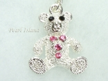 Clip on Charms - Diamante Teddy Bear Charm