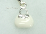 Clip on Charms - White Handbag Charm