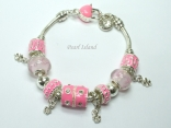 Charm Bright Pink Bracelet