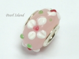 Murano Glass Bead_Pink 1