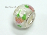Murano Glass Bead_Silver