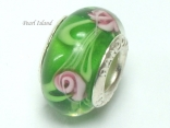 Murano Glass Bead_Green 2