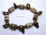 Pearls for Men - Green Blister Pearl with Batik Beads Bracelet