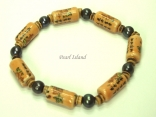 Pearls for Men - Black Pearl with Chinese Lucky Tube Bracelet