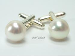 White Pearl Cufflinks