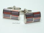 Red & Purple Stripped Cufflinks