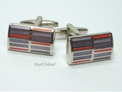 Red & Purple Stripped Cufflinks