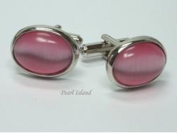 Cats Eye Pink Cufflinks